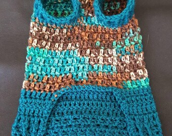 Cute dog sweater in the color Reef