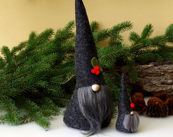 SET Mini and Large Nordic Gnomes, ALISTAIR, Nisse, Tomte, Gnome, Scandinavian Gnome, Gifts for Friends, Birthday Gifts, Mini Gnomes, Elves