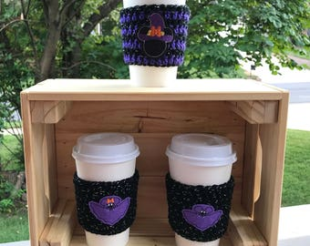 Mr and Mrs Mouse Bat Coffee Cozies/Mrs Mouse Witch Coffee Cozy
