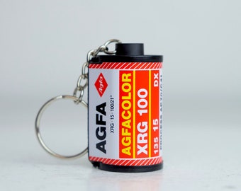 Agfa Agfacolor XRG 100 35mm Film Canister Key Chain
