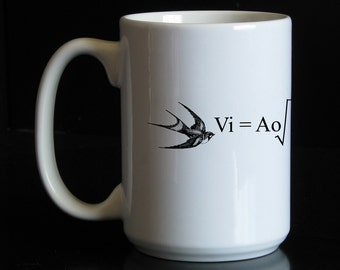 Formula for the Velocity of an Unladen Swallow (Inspired by Monty Python) 15 oz Coffee Mug