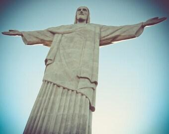 Christ The Redeemer in Rio de Janeiro Brazil Close Up