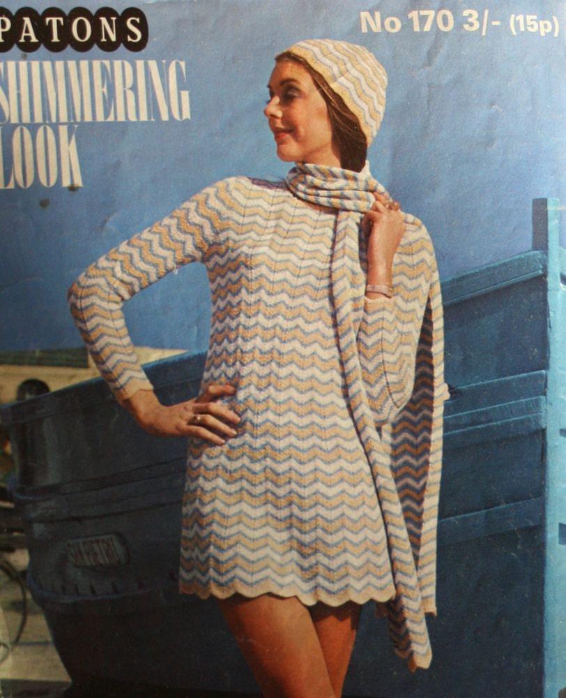 Knitting Patterns Crochet Patons 170 Men Women Dress Sweater Vest ...
