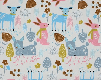 4236 - Animal (Light Beige) Cotton Canvas Fabric - 57 Inch (Width) x 1/2 Yard (Length)