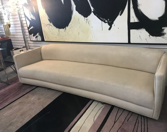 ON SALE- Gorgeous Long Mid Century Sofa- over 8'