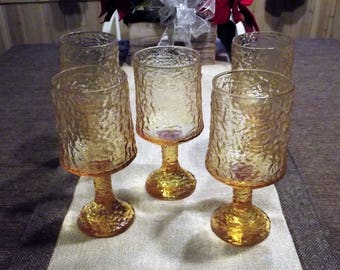 Lenox *-* IMPROMPTU YELLOW *-* Water Goblets, 5 piece set