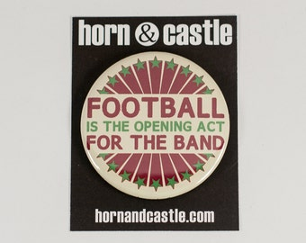 Funny Marching Band - Football 2.25 inch pinback button or magnet