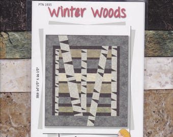 Winter Woods, Tamarinis, Quilt Pattern with Kit, Trees, DIY Quilt Kit