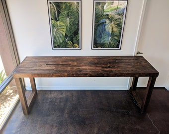 Reclaimed Wood Bar Restaurant Counter Community Rustic Provincial Kitchen  Coffee Conference Office