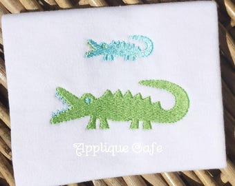 996 Mini Alligator Machine Embroidery Design