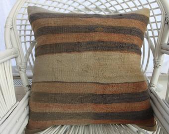faded pillow brown pillow traditional pillow natural 22x22 kilim pillow cushion cover throw pillows 55x55 cm floor pillows large pillow 05