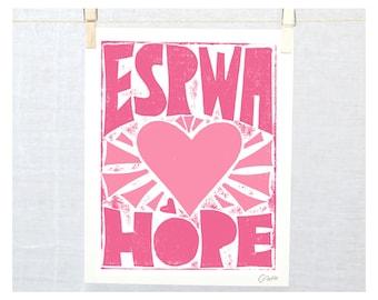 Hope, Espwa, Haitian Creole, Haiti, Wall Art, Adoption Gift, Nursery Art Print, Haitian Affirmation, #HaitianAffirmation, Haiti Adoption