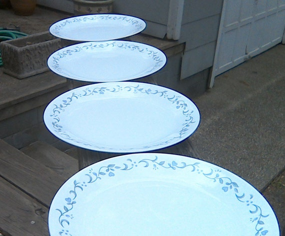 Like this item? & Corelle Country Cottage Dinner Plates MINT CONDITION Corelle