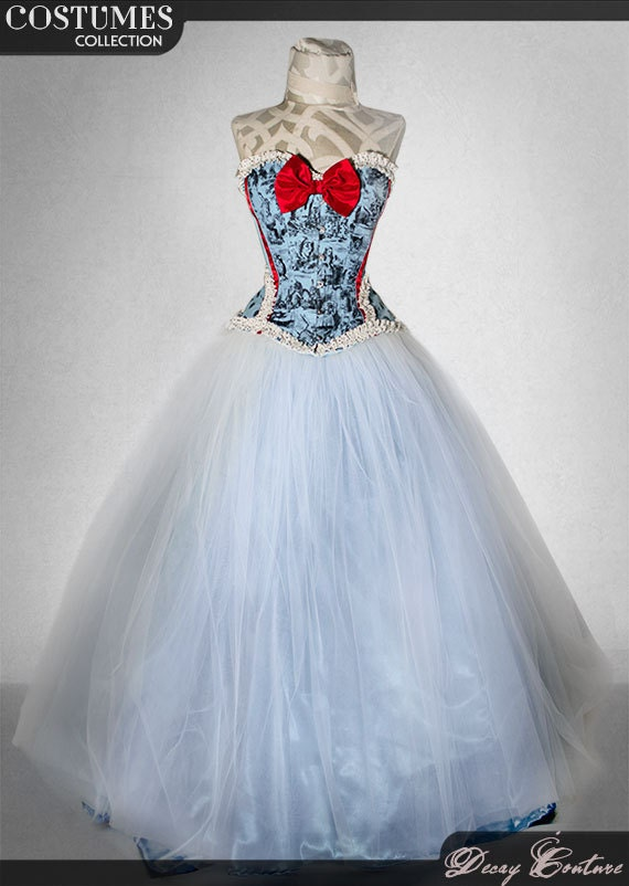 ALICE IN WONDERLAND wedding dress-winter wonderland-alice