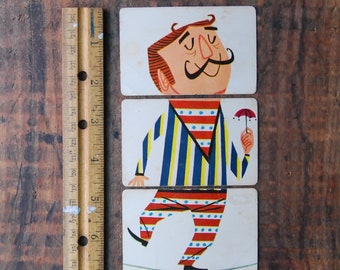 Vintage Mixies, Tight Rope Walker, Playing Cards, Set of 3, for Scapbooking Paper Crafts Altered Art