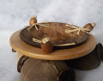 coconut and wood dish