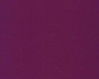 Cirrus Solids Iris Organic Cotton Quilting Fabric Purple Broadcloth Cloud9