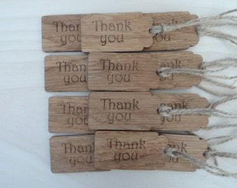 Oak 'Thank you' Tags.