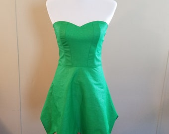 Glitter Green Fairy Dress - Shiny Green Fairy Dress - Available in Any Size from Petite to Plus Sized