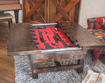 Amazing Coffee Height   Secret Compartment Table For Storing Guns (MADE TO ORDER)