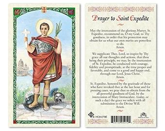 Prayer To ST Expedite Laminated  PRAYER CARDS - One Prayer Card