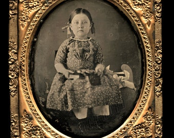 Daguerreotype ID'd Girl * Abbie Jane Robey Schoettler (1846-1935) ~ Genealogy