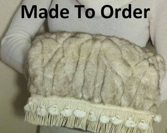 Custom Faux Fur Muff, Made to order