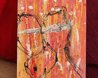 Outsider art, The Music Lovers  - A3 Giclee art print by Ina Mar