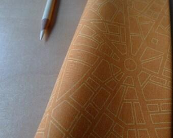 Barcelona City Map Orange Saffron Zen Chic for Moda Brigitte Heitland - Half Yard - Modern Quilting Sewing Cotton Fabric