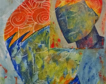 Art Photos - Man of Two Faces - Mixed Media Collage