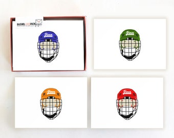 Hockey Stationery Set - Blank Folded Note Cards