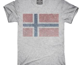 Retro Vintage Norway Flag T-Shirt, Hoodie, Tank Top, Gifts