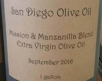 Extra Virgin Olive Oil (1) Gallon, Free Shipping