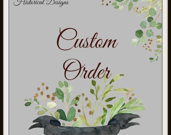 RESERVED for JENNY RONCHAK Down Payment for Custom Order Mid Victorian Corset By Request
