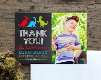Dinosaur thank you card, boys dinosaur birthday, dinosaur party, dinosaur theme, thank you cards, dinosaurs, dinosaur thank you card, dino