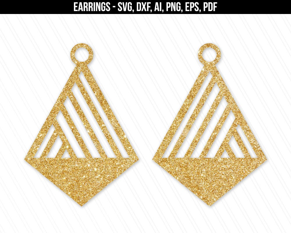 Earrings svg Jewelry svg dxf cut filesleather jewelry