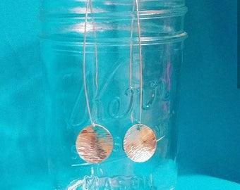 Sterling Silver Threaders * 925 Sterling Silver * Threaders * Circle Earrings * Circle Discs * Handmade * Dangles
