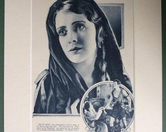 1920s Vintage Old Hollywood Print of Silent Movie Star Billie Dove, Black and white vintage Hollywood art retro 1920s film art old movie art