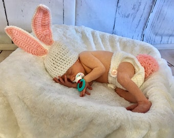 Baby Easter Outfit - Bunny Costume - Bunny Photo Prop - Bunny Outfit Girl - Bunny Costume Baby - Baby Photo Prop - Bunny Outfit - Easter