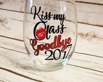 College Graduation Stemless Wine Glass