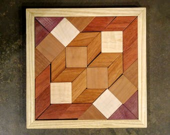 Parquetry Puzzle -  exotic wood patterns
