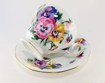 Cup and Saucer, Spring Melody, Queen Anne