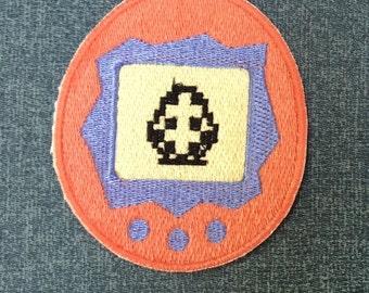 Tamagotchi Patch - 90's Nostalgia - Gift Idea - 2000's Kid - Virtual Pet - Digipet - Gamer - Teen - Denim Jacket Patch - Back to School
