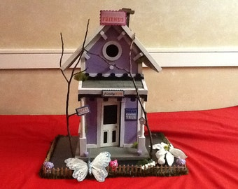Beautiful Detailed Handmade Birdhouse One of a kind Post Mount