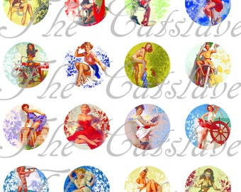 Pin Up Girl Magnets Pins Retro Girly Magnets Magnet or Pin Gift Sets Party Favors Fridge Magnets