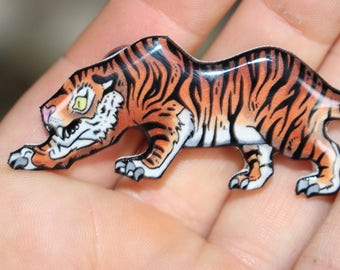 Tiger Magnet: Gift for Bengal Big cats lover Cute animal magnets for car locker or fridge