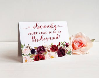 Obviously you're going to be my Bridesmaid Card, Maid of Honor Card, Bridesmaid Proposal Card Cute Bridesmaid Proposal Card