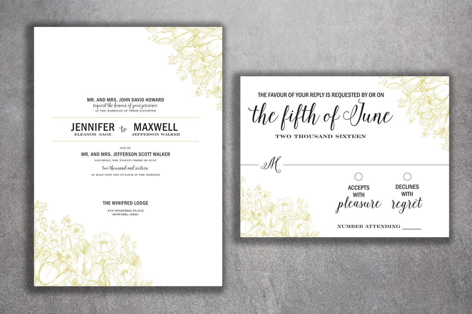 Shabby Chic Wedding Invitations Set - Cheap Wedding Invitations ...