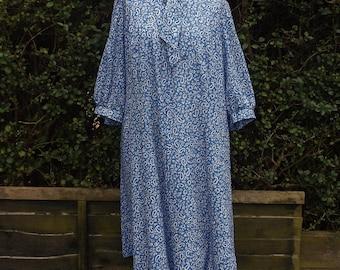 Richard Stump Vintage Paisley Patterned Smock Dress - Size 16
