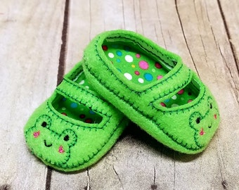 18 Inch Doll Shoes, Frog Doll Shoes, Doll Clothes, Baby Doll Shoes, Dress Up Doll, Doll Accessories, American, Girl Doll, Shoes For Dolls
